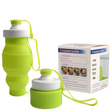 Collapsible Folding Silicone Drink Water Bottle Cup Kettle Outdoor Sport  travel telescopic water bottle A1