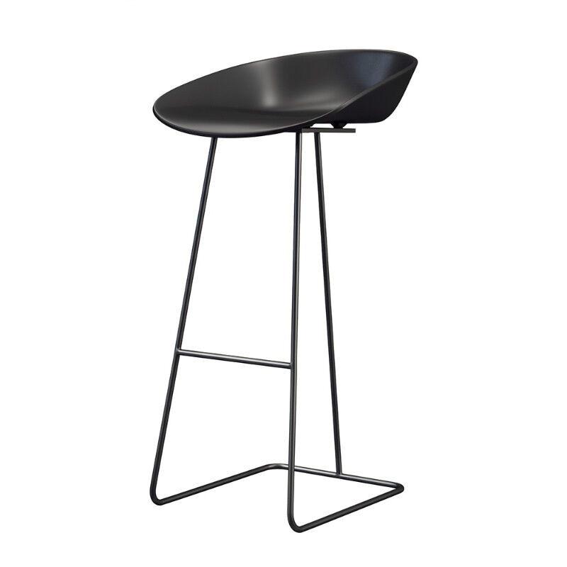 Nordic Bar Chair Iron  Stool Modern Simple Household Light Luxury High  Creative Net Red Gold