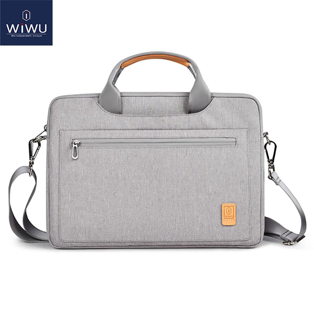 WIWU Laptop Bag Case 13 14 15.4 16 Waterproof Notebook Bag for MacBook Air 13 Case Women Men's Shoulder Bag for MacBook Pro 16(China)