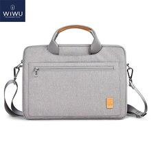 WIWU Laptop çantası çantası 13 14 15.4 16 su geçirmez Notebook çantası MacBook Air 13 için kılıf kadın erkek omuz çanta için MacBook Pro 16