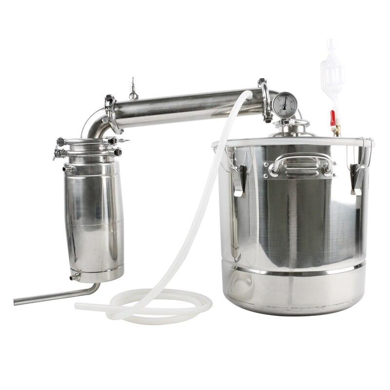 Duża pojemność domowe warzelnictwo urządzenie 20L/30L/50L ze stali nierdzewnej destylator alkoholu sprzęt dwóch zainstalować metody w Zestawy barowe od Dom i ogród na  Grupa 1