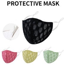 Masks Embroidered Insertable-Gaskets Washable Thick Women And Dustproof Flannel