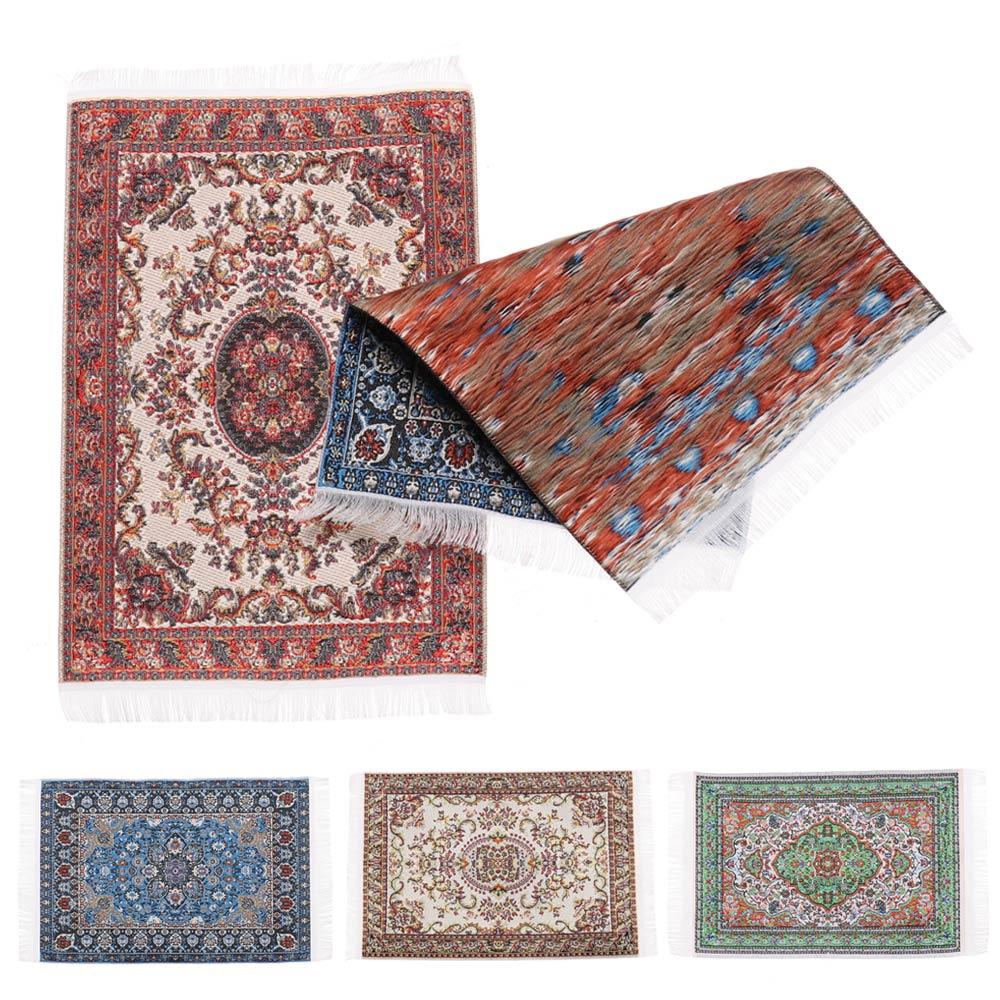 1/12 escala casa de bonecas em miniatura estilo turco área tapete/tapete/tapete revestimentos para bonecas casa todos os quartos móveis decoração
