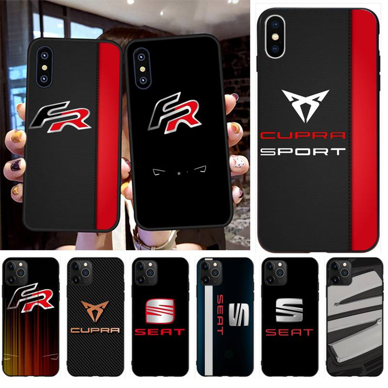 HPCHCJHM Car Seat Logo Black Soft Shell Phone Case Capa for iPhone 11 pro XS MAX 8 7 6 6S Plus X 5S SE 2020 XR case image