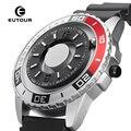 EUTOUR новые инновационные магнитные металлические многофункциональные мужские часы модные спортивные кварцевые часы Простой ремешок пилот
