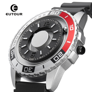 EUTOUR New innovative magnetic metal multi-function men's watch fashion sports quartz watch simple strap pilot new and innovative blue gold magnetic metal parallel time and space watch men s fashionable quartz watch simple men s watch