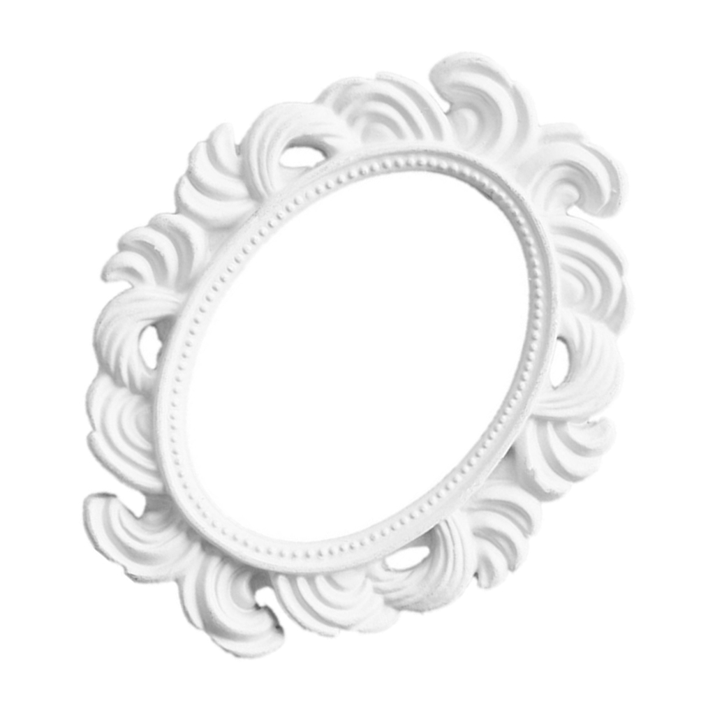 Oval Boroque Photo Frame Tabletop Wall Hanging Picture Frame Display Stand