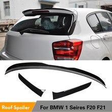 ABS czarny błyszczący tylny dachowy boczne Spoiler tylny spojler skrzydło spojler do BMW serii 1 F20 F21 2012 - 2020 ABS czarny błyszczący