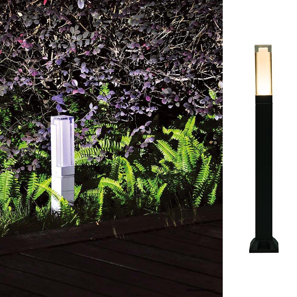 Modern Energy Saving 220V 240V Courtyard Aluminium Square IP54 Waterproof 7W Cob Outdoor Post Lamp &LED Garden Lawn Ligh