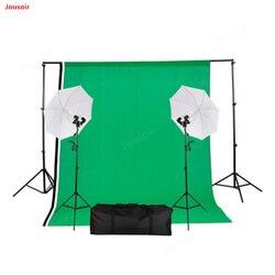 Photography set umbrella lamp soft umbrella set +2*3m background frame 1PC+ black and white green cotton cloth *3PC CD50 T03