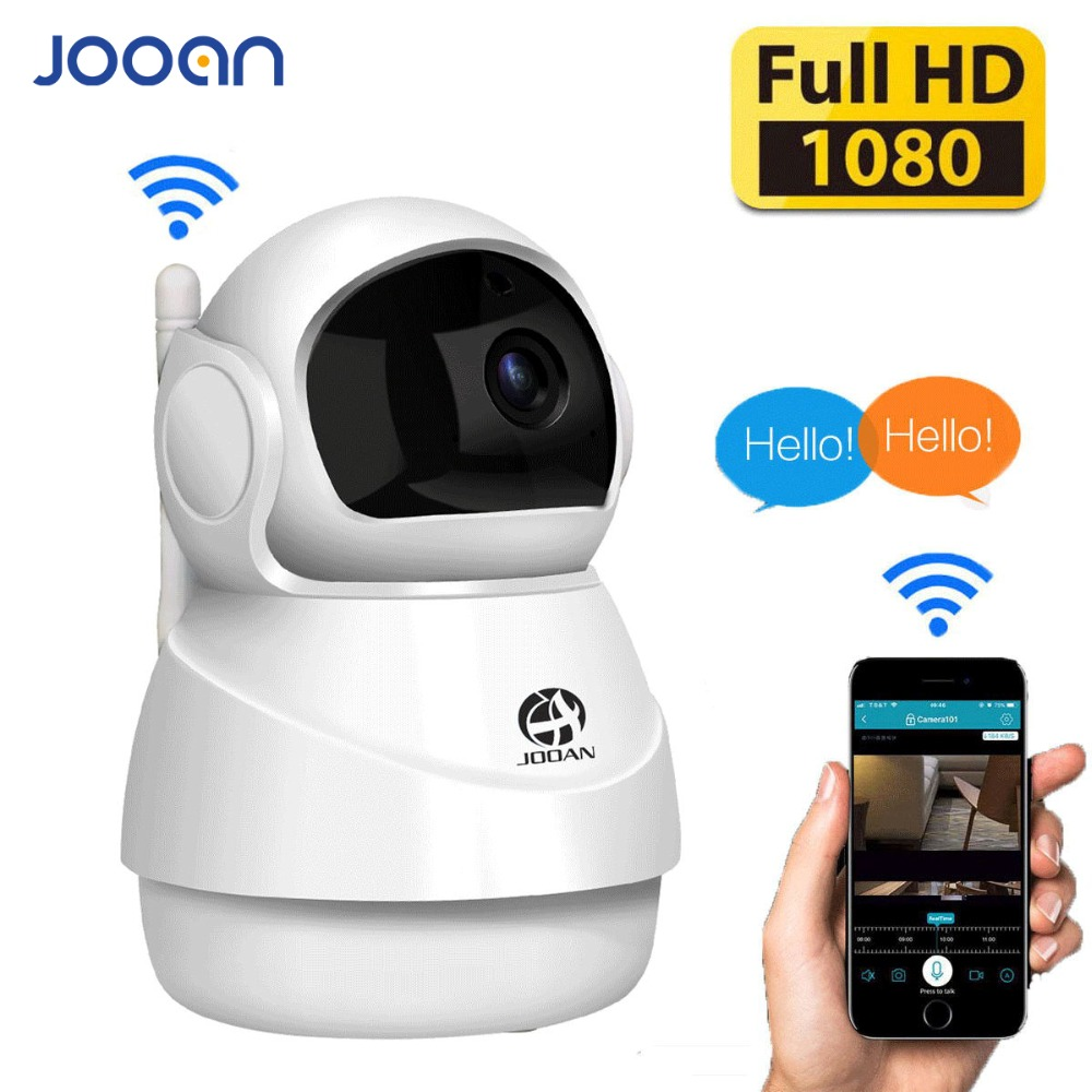 JOOAN Wireless IP Camera 1080P HD Smart WiFi  Home Security  Infrared Night Vision  Video Surveillance CCTV Camera  Baby Monitor