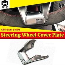 B-style W205 Automotive interior Steering Wheel Low Cover plate ABS Silver C-Class C180 C200 C250 C300 C350 C400 2015-in