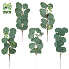 Xin ou grego modelo único garrafa eucalipto folhas de eucalipto vendas quentes boquet titular decoração
