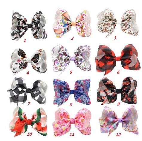 "HOT New 4"" Bows For Girls Christmas Hair Bows For Girls With Clips Bowknot Handmade Hair Accessories"