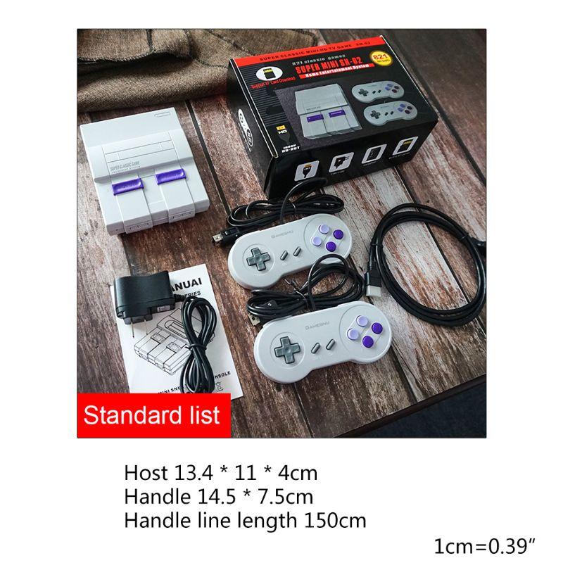 cheapest HDMI TV game console 8-bit game console SNES nostalgic SFC super home European version   US version 821 games