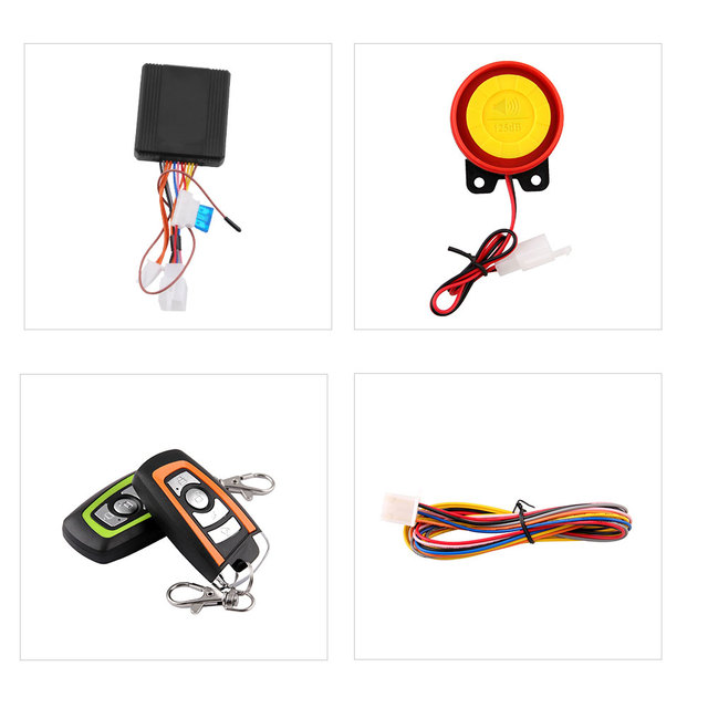 Universal Two-way Motorcycle Scooter Anti-theft Security Alarm System Engine Start Remote Control Key MB-AH023 3