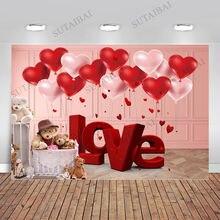 День Святого Валентина Фон тканевый розовый медведь любовь красный
