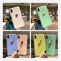 Cute 3D Fruit Shape Silicone Phone Case For Samsung A10 A20 A40 A50 A60 A70 A80 A90 M10 M20 M30 Note 8 9 10 S8 S9 S10 Plus