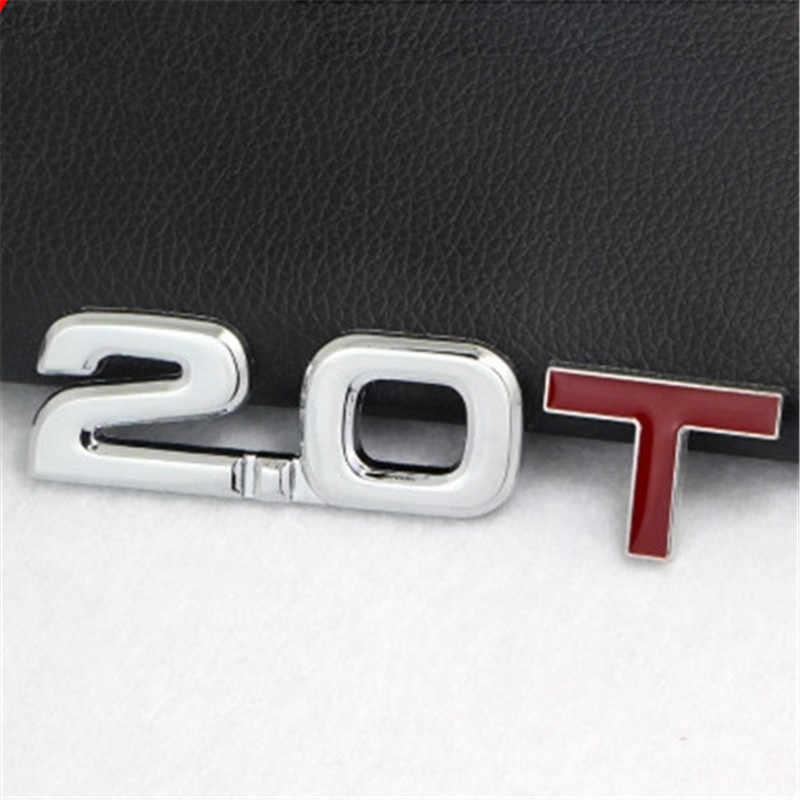 Stiker Mobil 3D Logam 1.6T 1.8T 2.0T 2.8T Logo Stiker Emblem Lencana Stiker untuk VW Mazda benz Toyota BMW Ford Audi Kia Mobil Styling