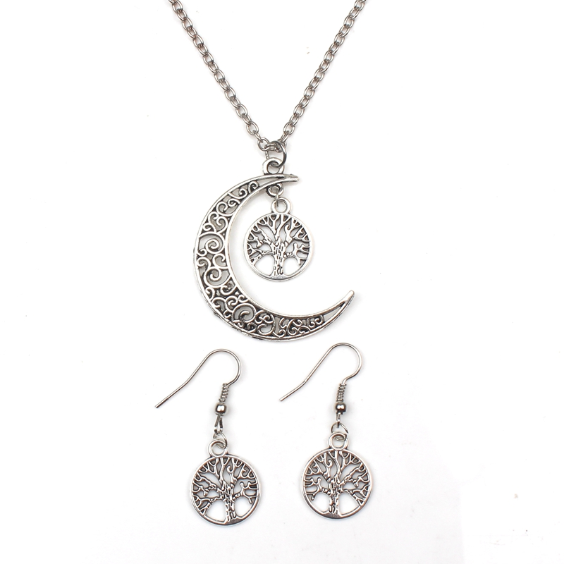 New Round Hollow Wishing Tree Pendant Necklace Life of Silver Jewelry Fashion Cute Wedding Part