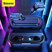 Baseus TWS 5.0 Bluetooth אוזניות אלחוטי אוזניות אלחוטי אמיתי אוזניות עם מיקרופון דיבורית באוזן אוזניות עבור iPhone Xiaomi