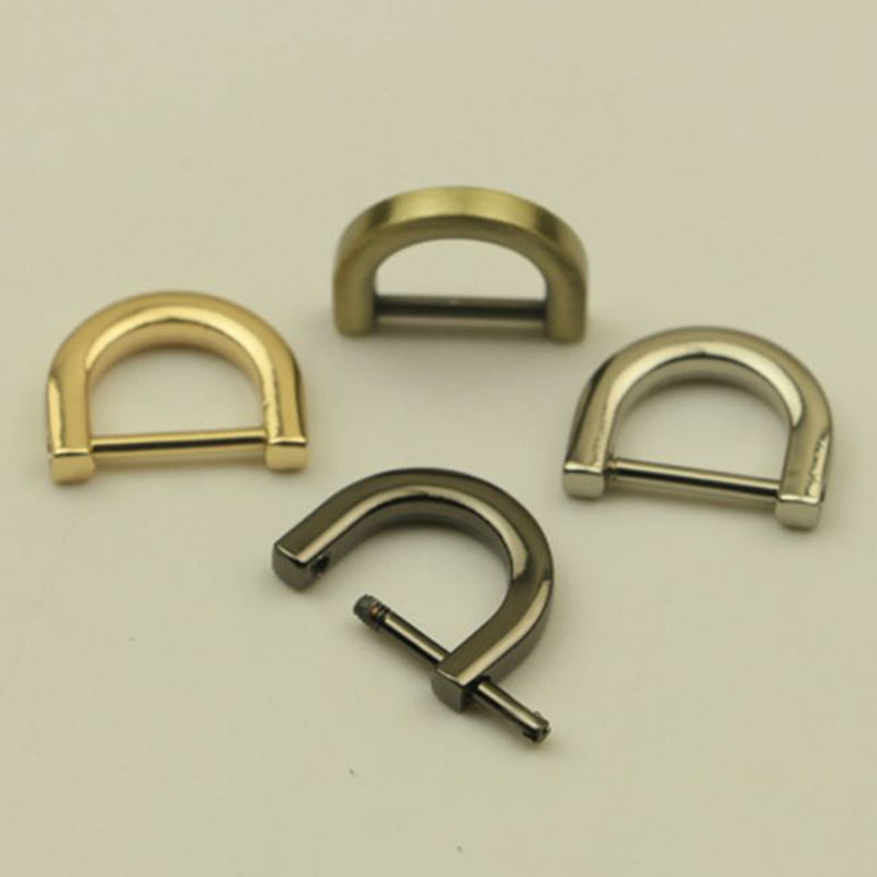 1pc Metal Detachable Open Screw D Ring Buckle Clasp For Leather Craft Bag Strap Belt Handle Shoulder Webbing Accessories