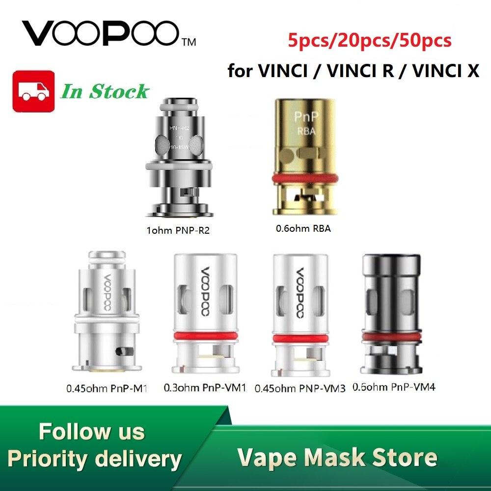 50pcs Hot Sale Original VOOPOO PnP Mesh Coil For VINCI R /VINCI X Kit 0.3ohm /0.45ohm / 0.6ohm / PnP-VM3 0.45ohm E-cig Coil