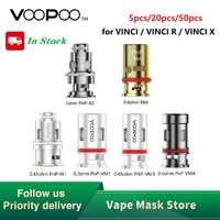 50pcs Vendita Calda Originale VOOPOO PnP Maglia Bobina per VINCI R/VINCI X Kit 0.3ohm/0.45ohm/ 0.6ohm/PnP-VM3 0.45ohm E-cig Bobina
