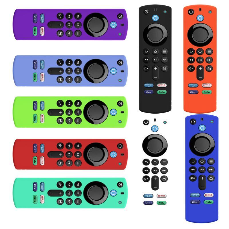 Чехол для пульта дистанционного управления ТВ Защитный чехол для Fire TV Stick 4K 2nd Gen и 3rd контроллер совместим с Alexa голосовой пульт дистанционно...