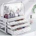 Водонепроницаемая косметическая коробка  прозрачная коробка для макияжа  многофункциональная дорожная косметическая коробка  органайзер ...