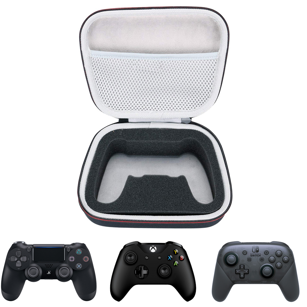 Storage EVA Hard Case Travel Carrying Portable Bag for Xbox One s/PS4/Switch Pro Controller with Mesh pocket Fits Plug|Bags| - AliExpress