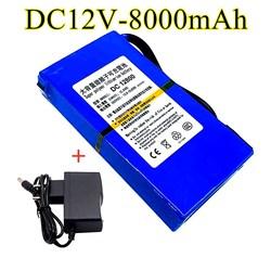 100% cc durable 12v, 8000 MAH, batterie au lithium-ion de capacité élevée avec le chargeur