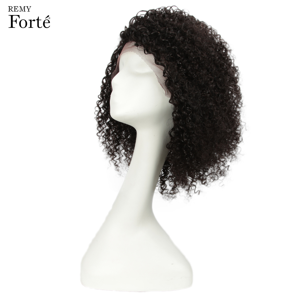 Image 2 - Remy Forte Lace Human Hair Wigs Curly Short Human Hair wig 100% Remy Brazilian Hair Wigs For Women U Part Kinky Curl Lace Wigs-in Human Hair Lace Wigs from Hair Extensions & Wigs
