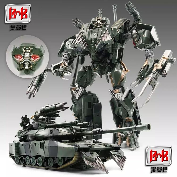 Lensple transformação mamba preto LS-10 ls10 armadura canhão menino brinquedos ruidosos tanques robô liga de metal filme figura ação robô