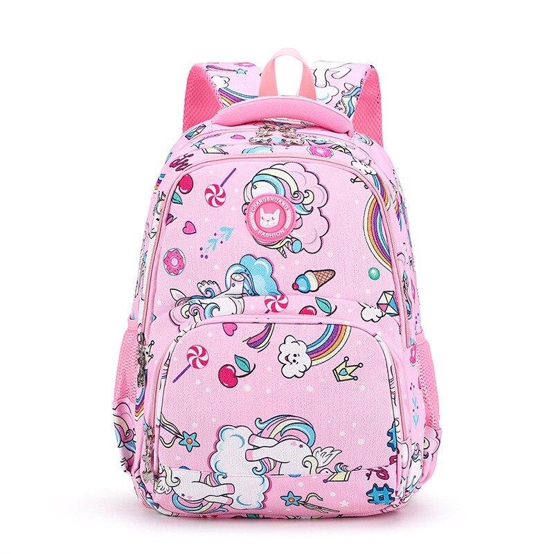 Детские ортопедические рюкзаки для начальной школы с принтом единорога, водонепроницаемый ранец, ранг 1 3 6, школьные ранцы для школьников|Школьные ранцы| | АлиЭкспресс