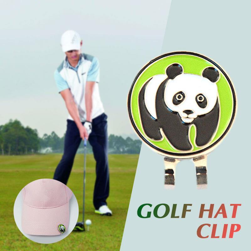 Durable Alloy C247 Panda Sports Golf Hat Clip Golf Ball Marker Sign Club Golf Cap Clip Course Golfer Kit Portable Outdoor