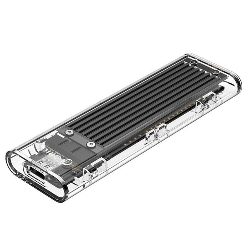 ORICO TCM2F-C3 M2 SSD Case NGFF SSD Enclosure M.2 To USB 3.1 Type C Transparent Hard Drive Enclosure For M.2 NGFF B Key SSD Disk