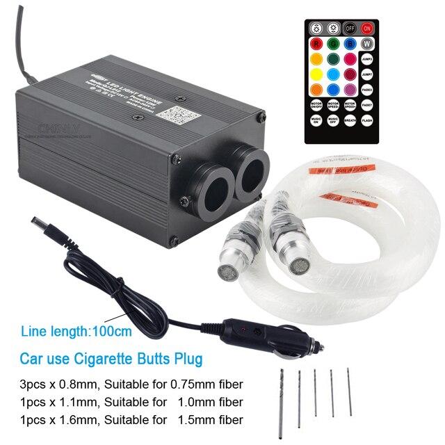 Nouveau éclairage fibre optique à LED Bluetooth APP contrôle 12W scintillement musique contrôle voiture toit lumière son actif ciel étoilé lumières