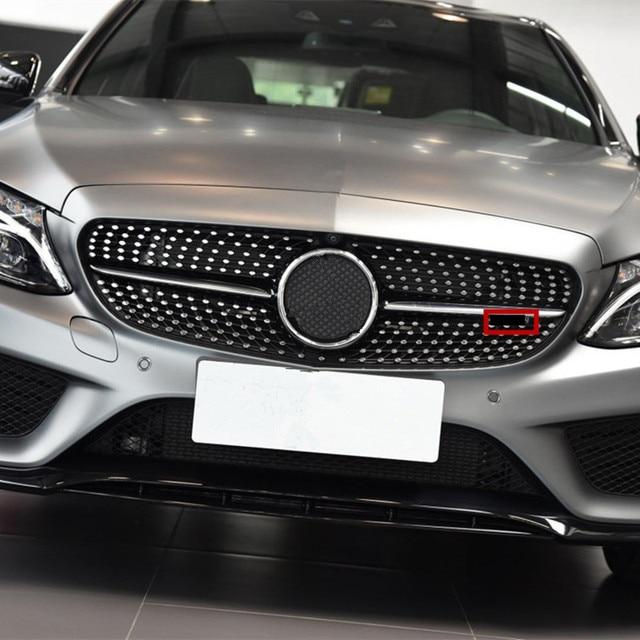 $ 11.19 Diamond Grille Emblem For Mercedes Benz AMG mini Logo A B C E Class W176 W246 W204 W205 W212 W213 Starry Sky Front bumper grille