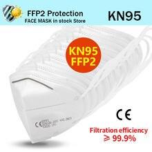Masque facial KN95 FFP2, 5 à 100 pièces, anti-poussière, filtrant