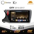 K7 Ownice 6G Ram 128G Rom Android 10,0 автомобиль радио setero для Honda City 2014 - 2017 Авто аудио 360 панорама оптический 5G Wi-Fi
