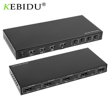 Kebidumei 2/4 Port Type C KVM Switch Box 4K Video Display HDMI-compatible USB C Switch Switcher Splitter Box For Keyboard Mouse