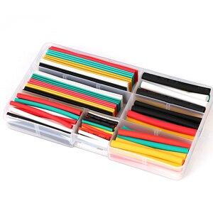 140 sztuk wysokiej jakości różne rura termokurczliwa z poliolefinu rury rękawy kablowe Wrap drutu zestaw 7 rozmiar Multicolor