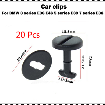 20pcs High quality plastic Floor Carpet Clips Twi-st Lock Washers For BMW E32 E34 E36 E38 E39 E46 Automobile Replace Fasteners image