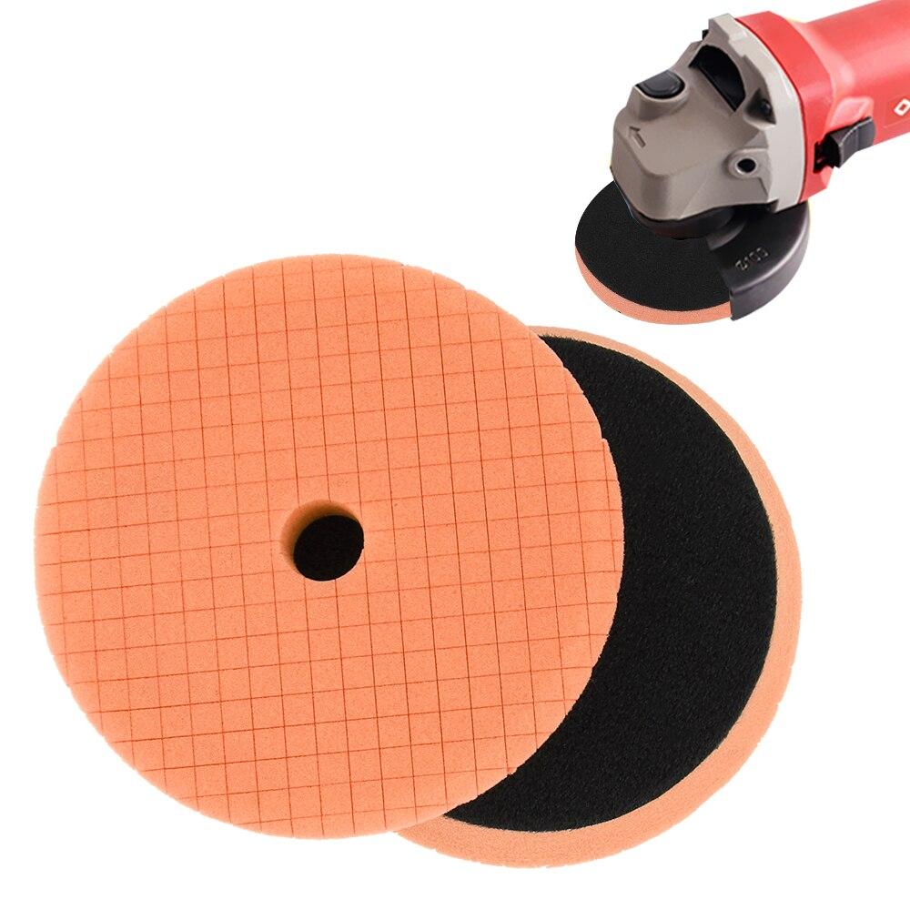 disco abrasivo carro polimento kit esponja espuma almofadas 03