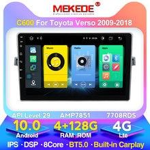MEKEDE Android 10 para Toyota Verso R20 2009-2018 coche multimedia reproductor de video BT 5,0 WIFI FM audio de coche estéreo 128G ROM