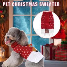 Милые свитера в рождественском стиле для собак, Классические Теплые удобные свитера с рисунком лося для собак, кошек, домашних животных, милый Рождественский комбинезон