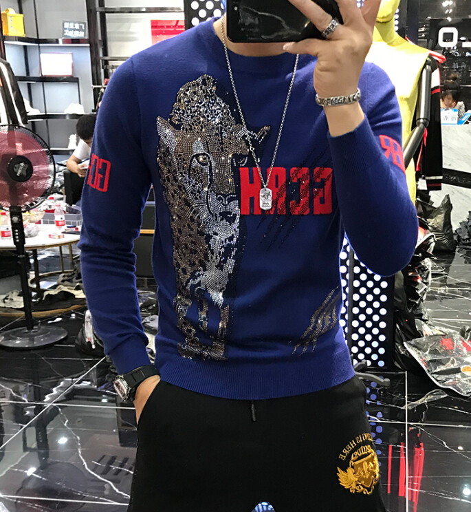 2019 New Spring Autumn Men's Long Sleeve Cotton Sweater Male Casual Solid Color Slim Fit Europe Style Sweater