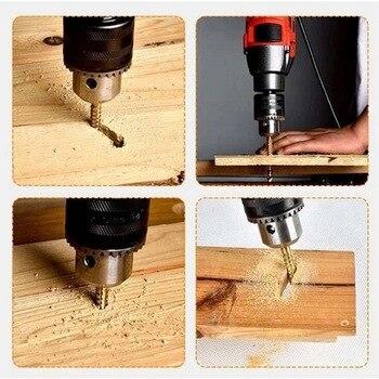 цена на Drill Bit 6pcs 3-8mm Large HSS 4241 Steel Step Cone Drill Countersink High Speed Steel Woodworking Titanium Bit Set Hole 7