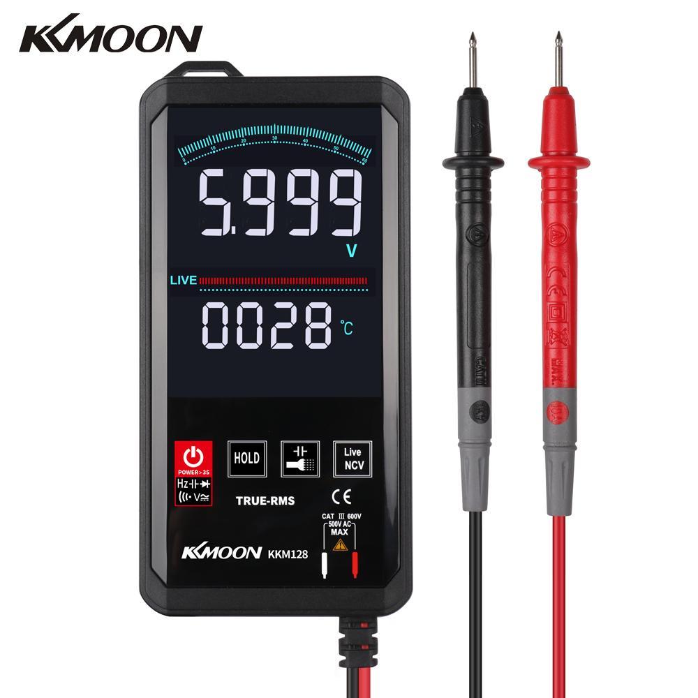 KKmoon-multímetro Digital profesional ultrafino KKM128, medidor de resistencia de capacitancia de frecuencia de voltaje de 6000 recuentos
